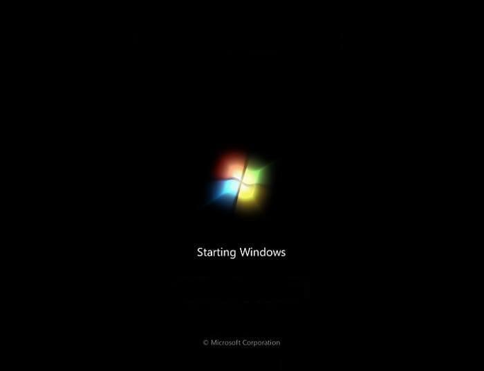 layar boot Windows-7