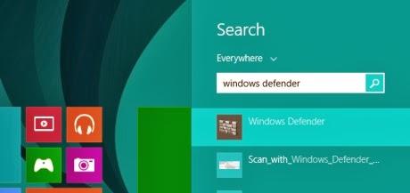 how to turn on microsoft defender windows 8