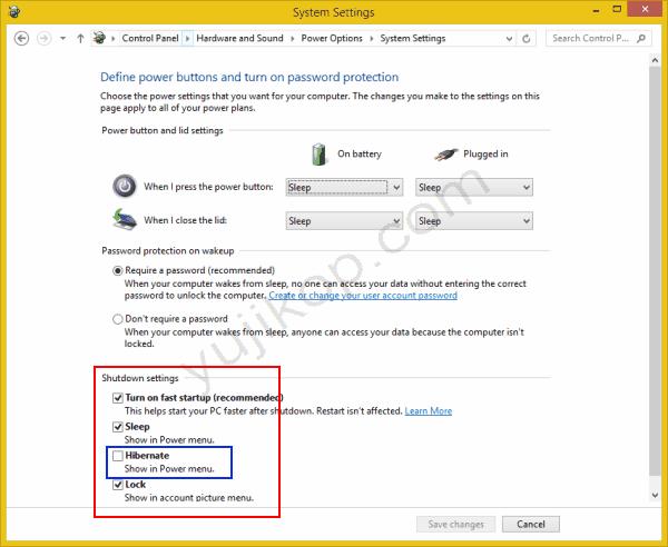 cara enable disable hibernate windows 8 1 dan windows 8