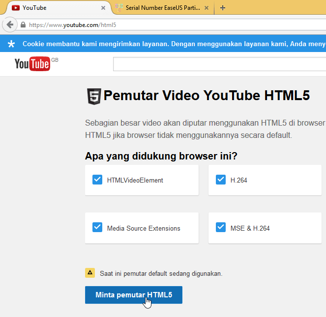 request HTML5 player