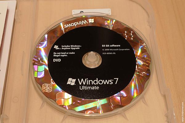 DVD bootable Windows 7 Ultimate