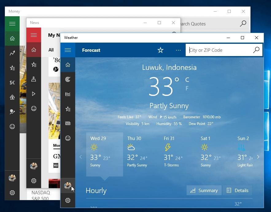 Modern app Windows 10