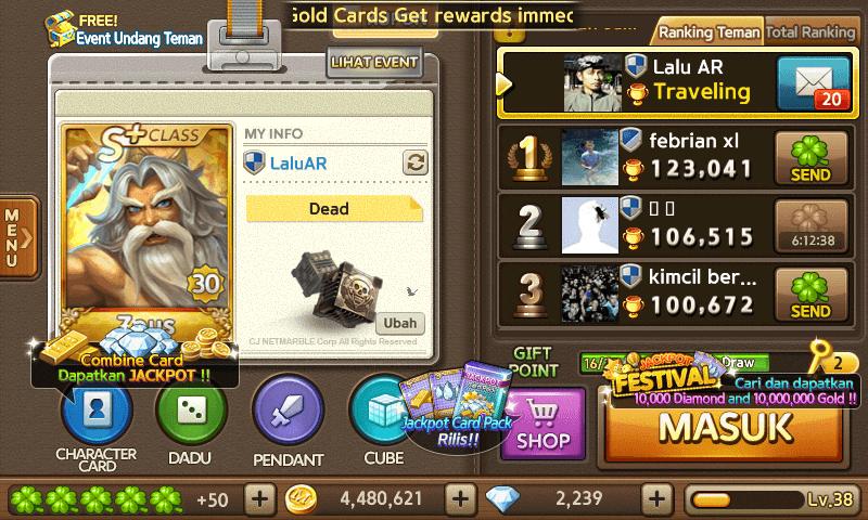 jutaan gold ribuan diamond get rich