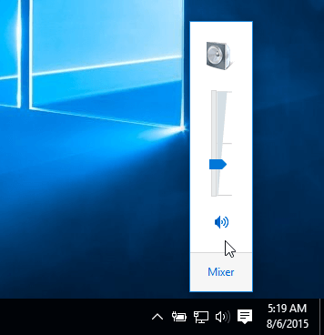 old volume control windows 10