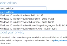 Windows 10 Insider Preview Build 14295