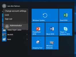 Cara masuk sebagai Administrator di Windows 10
