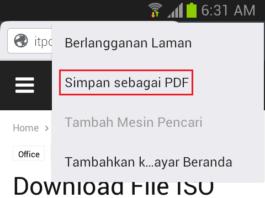 Cara Menyimpan Halaman Situs sebagai PDF di Ponsel